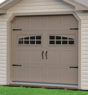 Pine Creek Structures Garage Door Options