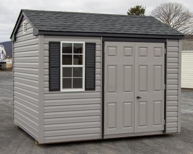 8x10 Peak Style Vinyl Storage Shed in stock at Pine Creek Structures of Berrysburg, PA