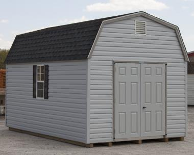 10x16 Gambrel Barn Style Storage Shed with Vinyl Siding