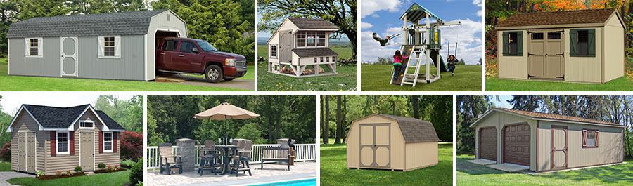 pine creek structures product line includes garages storage sheds chicken coops outdoor patio